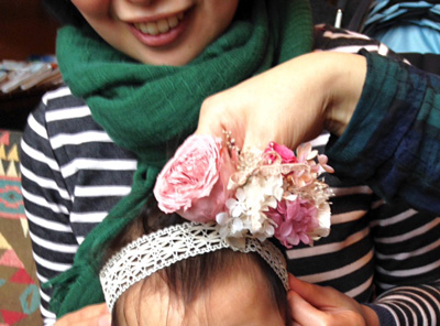 赤ちゃんのヘア飾り
