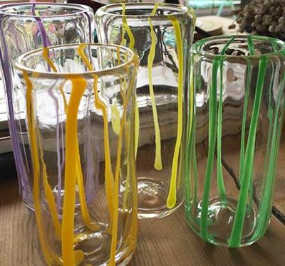Y. さんのガラス作品 グラス
