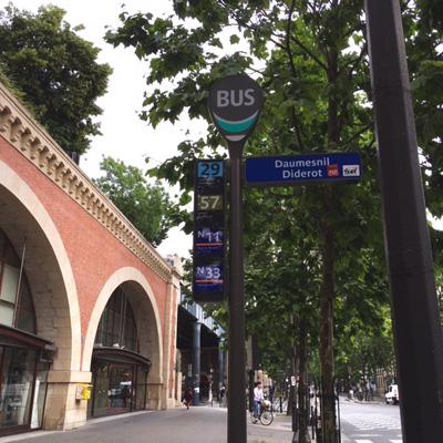 フランスのバス停