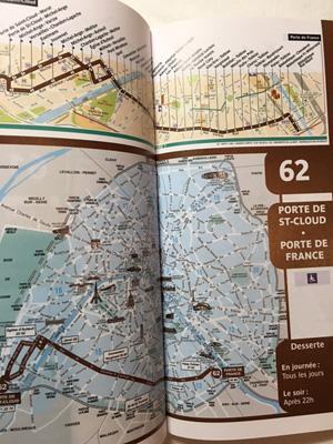 フランスのバスマップ