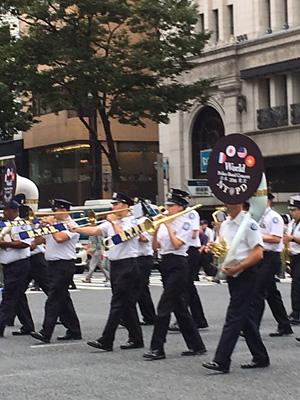 警察音楽隊のパレード(ニューヨーク警察)
