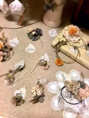 la filleteさんの小さな布花の作品