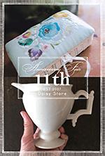 周年祭〜陶器と刺繍展〜2018年2月21日(水)〜3月5日(月)