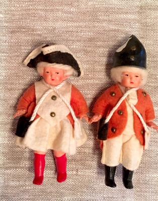 セルロイド製のカップル人形