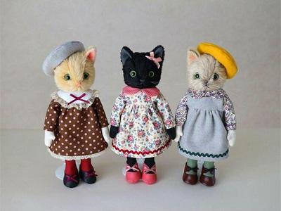 パリcoさんの猫人形さん