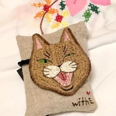 chieさんの猫の刺繍