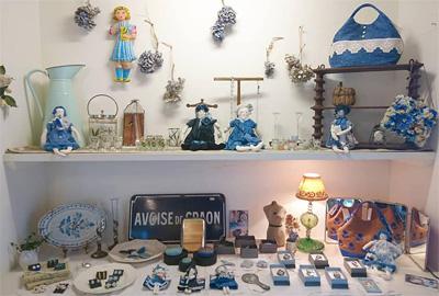 青とガラス展ディスプレイ 2019年7月19日〜22日 デイジーストア