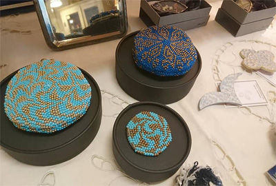 青とガラス展 作作堂さんのアクセサリー