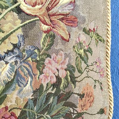 ゴブラン織りの壁飾り 生地アップ