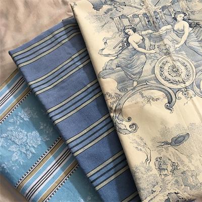 ブルー系のフランスの古布