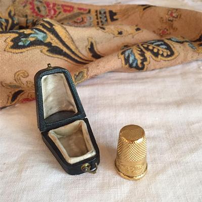 フランス製 18Kアンティークの指貫