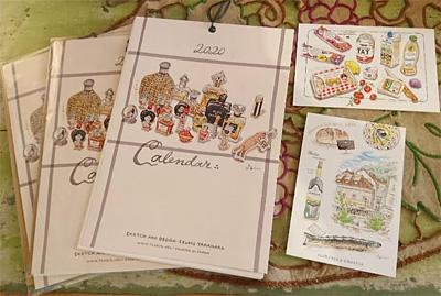 高原泉さんのポストカードとカレンダー