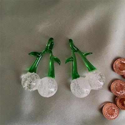 ビンテージウランガラスのシャンデリアチェリー