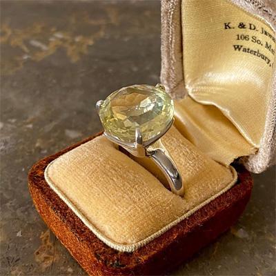 レモンクオーツのリング