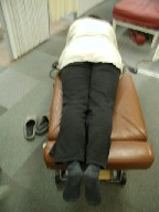 千葉県 千葉市 腰痛 股関節の整体 カイロプラクティック施術検査風景