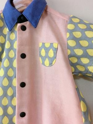 (90-100)しずくの半袖シャツ