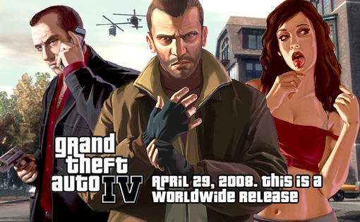 GTAIV全世界同時発売決定!