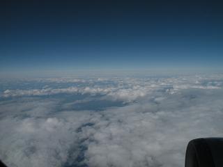 帰りの飛行機の窓から(12月15日)