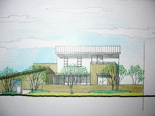 「米多比の家」スケッチ