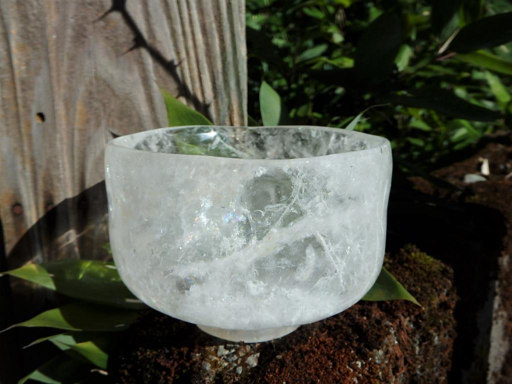 水晶製茶碗