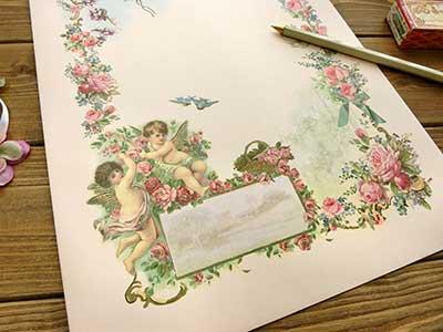薔薇と天使の角2封筒