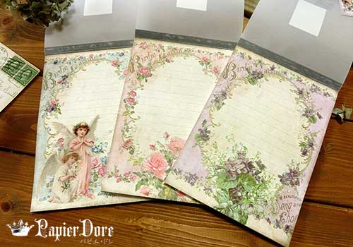 薔薇と天使ヴィクトリアンメモ帳