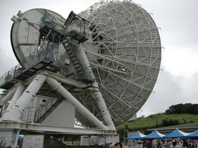 会場のシンボル VERA20m電波望遠鏡