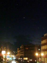 11月24日の夕空(携帯カメラで撮影)