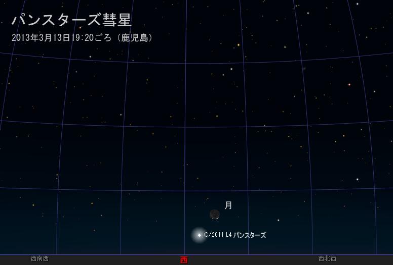 パンスターズ彗星3月13日
