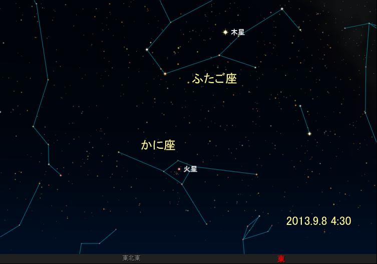 1309080400プレセペと火星
