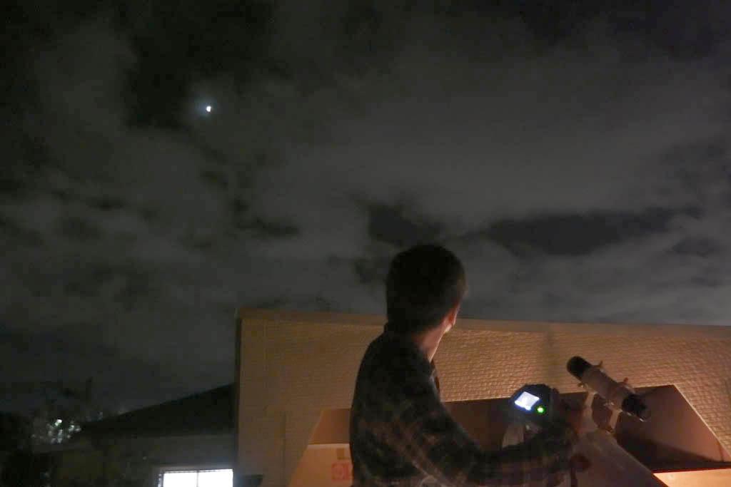 150404月食観測風景(chie)
