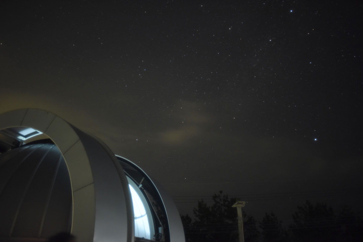 161122天文台と夏の大三角