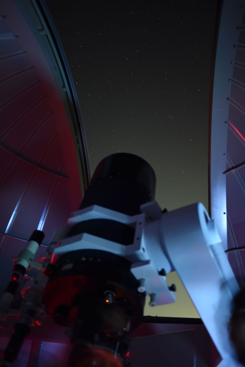 161122ドーム内からの星空
