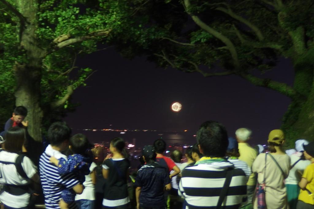 桜島の花火