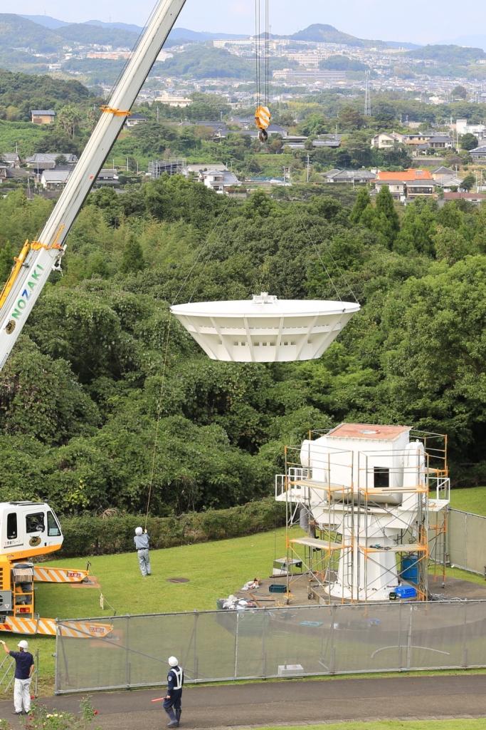 解体作業が始まった6m電波望遠鏡2018_09_27_13h44m