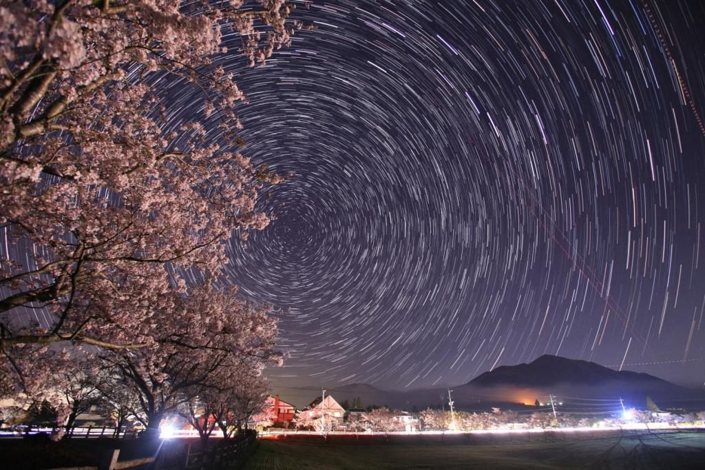2019_04_05_夜桜と北天日周6Ds30f4ISO3200×48