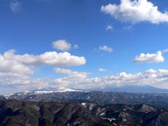 八ヶ岳と蓼科山