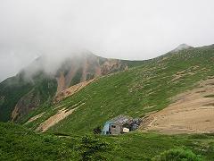 天狗岳と根石山荘