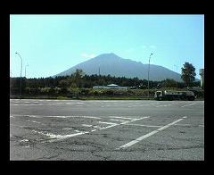 昼の岩手山