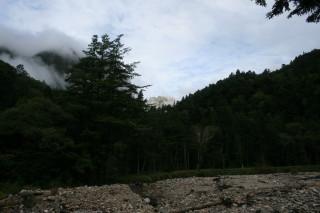 横尾から見える南岳