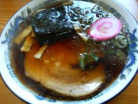 夏掘の醤油ラーメン630円