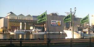 釧路MOOの外観工事