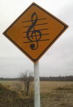 メロディロード始まりの標識