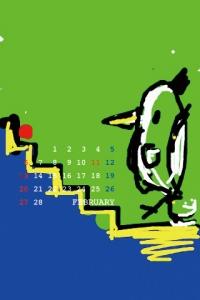 2011年2月 待ち受けカレンダー 2 コトリラボ 携帯 iPhone