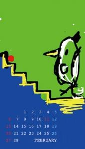 2011年2月 待ち受けカレンダー 3 コトリラボ 携帯 iPhone
