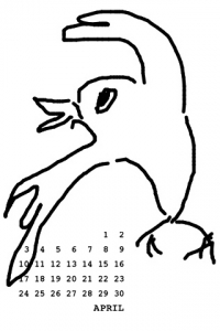 2011年4月 待ち受けカレンダー  コトリラボ 携帯 iPhone