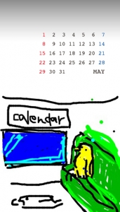 待受カレンダー コトリラボ 小鳥研究室 kotori-lab 2011年5月 may 2011