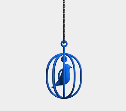 青い鳥 アクセサリー 3Dプリンター.jpg