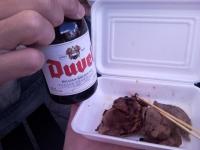 ベルギービールと猪肉