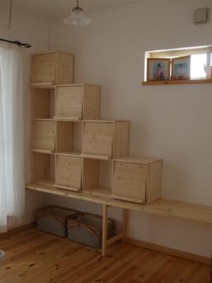 フリースペースの本棚